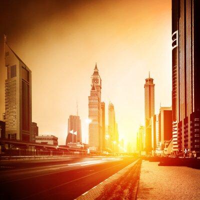 Fototapeta Město Dubaj v západu slunce