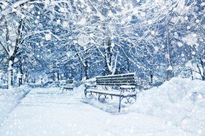 Fototapeta Město pokryté sněhem