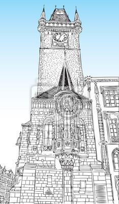 Mesto Praha Ceska Republika Kostel Svateho Frantiska A Namesti