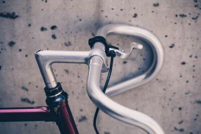Fototapeta Město silniční kolo řídítka detailní, vintage styl