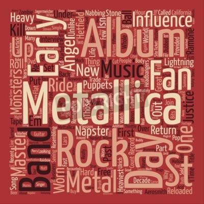 Fototapeta Metallica St Anger textu pozadí slovo oblak koncepce