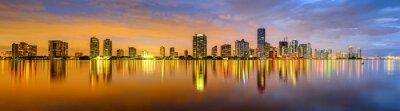 Fototapeta Miami Florida Biscayne Bay Skyline Panorama