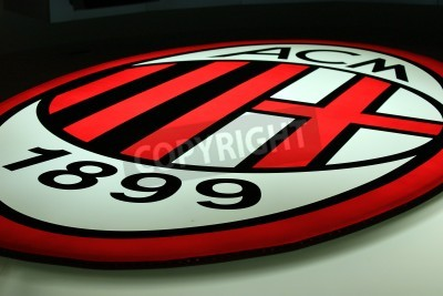 Fototapeta Milán, Itálie 20. září 2010 - AC Milán logo.
