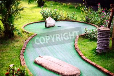 Fototapeta Mini golfový klub vyzdobený v thajském stylu