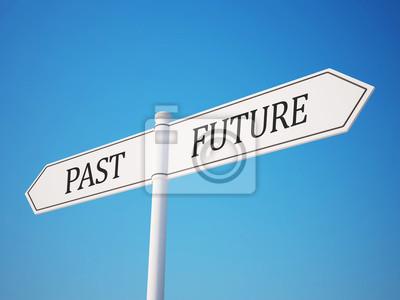 Minulost a budoucnost rozcestník s ořezovou cestou