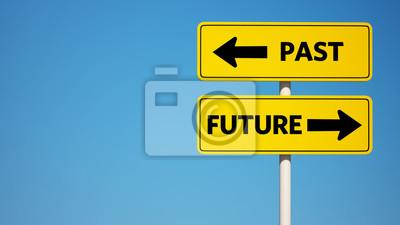 Minulost a budoucnost znamení s ořezovou cestou
