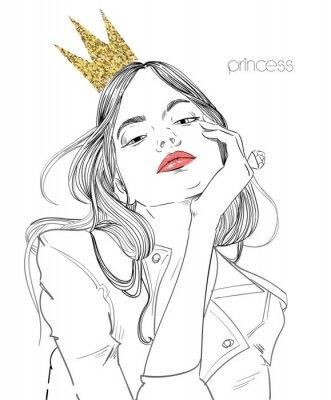 Fototapeta mladá krásná žena s korunou