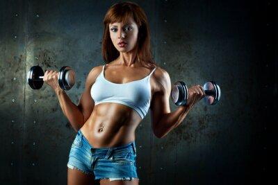 Fototapeta Mladí sporty žena