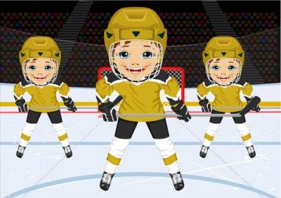 Fototapeta Mladý hokejový tým v uniformě