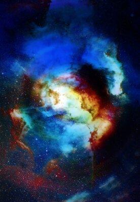 Fototapeta Mlhovina, kosmického prostoru a hvězdy, modré kosmického pozadí abstraktní. Prvky tohoto obrázku zařízeném NASA.
