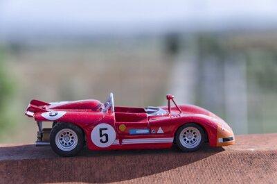 Fototapeta Model of a old racing car in the sun