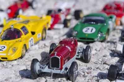 Fototapeta Models of a classic cars in the sun