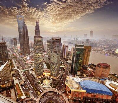 Fototapeta moderní budova v čínské Šanghaji.
