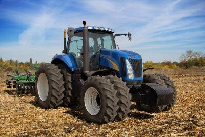 Fototapeta Moderní farma traktor s květináč