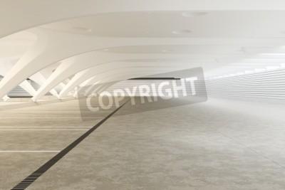 Fototapeta Moderní futuristický prázdný abstraktní interiér