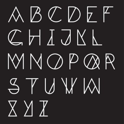 Fototapeta Moderní geometrické abeceda