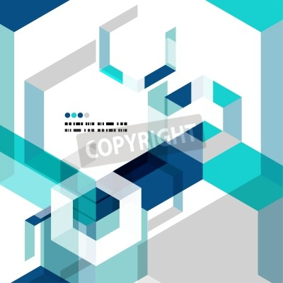 Fototapeta Moderní geometrické abstraktní vektorové šablony