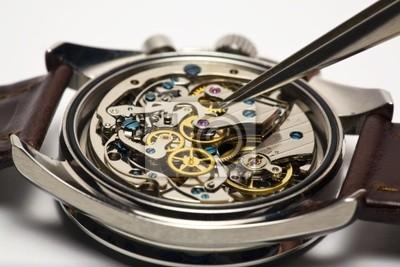 b6e57279e32 Moderní hodinky opravy fototapeta • fototapety chrono