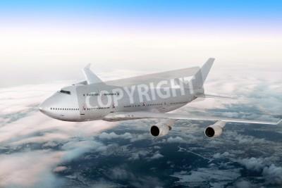 Fototapeta Moderní letadla nad mraky.
