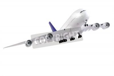 Fototapeta Moderní letadlo na bílém pozadí.