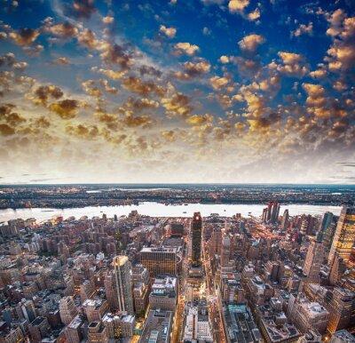 Fototapeta Moderní městské mrakodrapy a panorama
