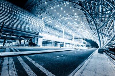 Fototapeta moderní nádraží v noci