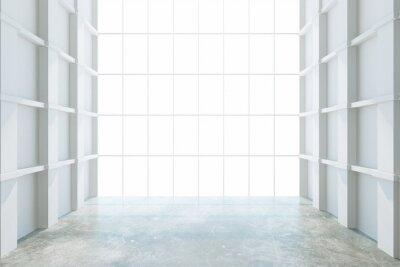 Fototapeta Moderní prázdná místnost s velkým oknem