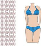3f4dcc5eb88 Módní plavky s bezešvé vzor fototapeta • fototapety spodní prádlo ...