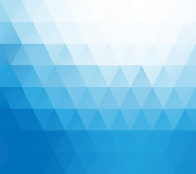 Fototapeta Modrá Bílá mozaika pozadí, kreativní design šablony