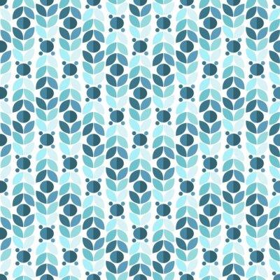 Fototapeta Modrá Geometrická Retro bezešvé vzor