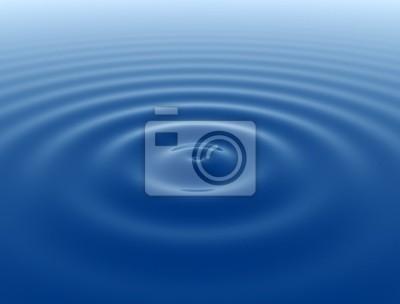 Modrá hladké vodní vlnky