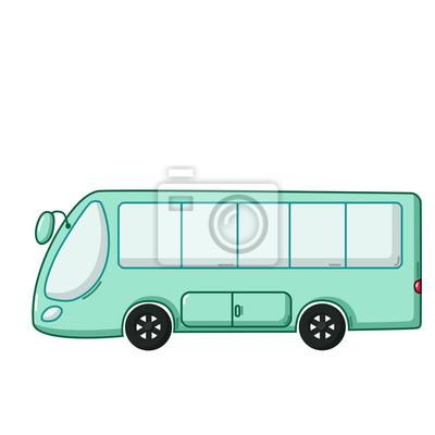 Modra Ikona Autobus Kresleny Styl Fototapeta Fototapety Pocitac