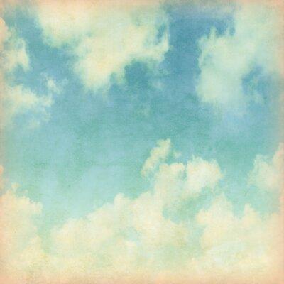 Fototapeta Modrá obloha s mraky ve stylu grunge.