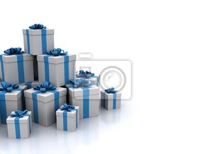 Modré dárkové krabičky