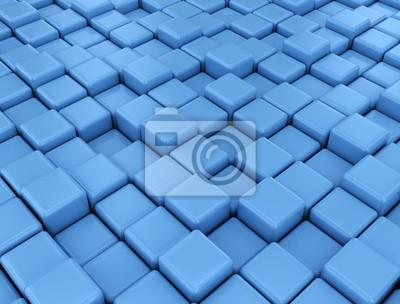 Fototapeta Modré kostky pozadí
