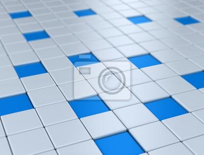 Fototapeta Modré kostky sítě ilustrace