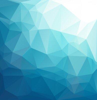 Fototapeta Modré polygonální Mosaic pozadí, kreativní design šablony