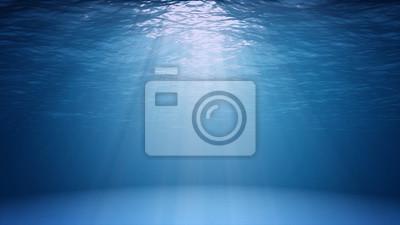 Fototapeta Modrý oceán povrch je patrné z podvodní