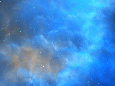 Fototapeta Modrý zářící mlhovina fraktální