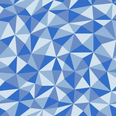 Fototapeta Modrý zmačkaný papír s geometrickým bezproblémovým vzorem