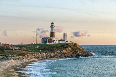 Fototapeta Montauk Point Light, Lighthouse, Long Island, New York, Suffolk
