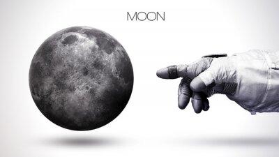 Fototapeta Moon - Vysoké rozlišení nejvyšší kvality sluneční soustava planeta. Všechny dostupné planety. Tyto obrazové prvky poskytované NASA