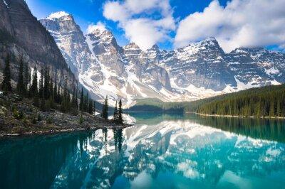 Fototapeta Moraine Lake, Rocky Mountains, Kanada