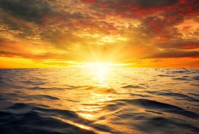Fototapeta moře a západ slunce