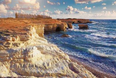 Fototapeta Mořské jeskyně. Kypr