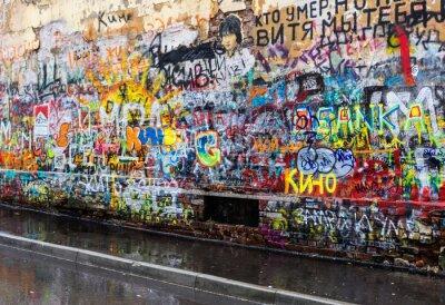 Fototapeta Moskva graffiti