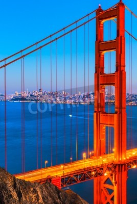 Fototapeta Most Golden Gate, San Francisco, Kalifornie, USA.