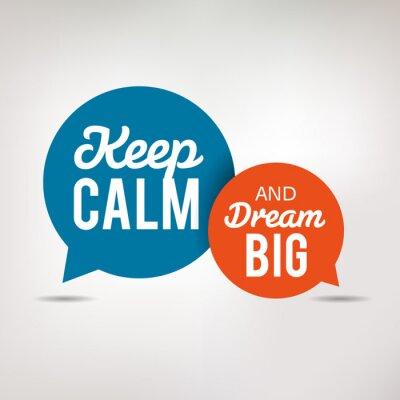 Fototapeta Motivace Quote - Keep Calm