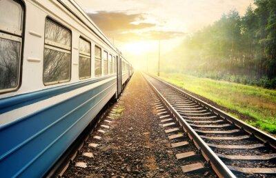 Fototapeta Moving train