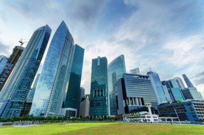 Fototapeta Mrakodrapy ve finanční čtvrti Singapuru